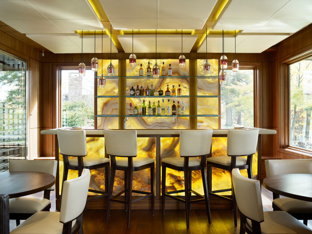 Contemporary Lake House Contemporary Home Bar Other