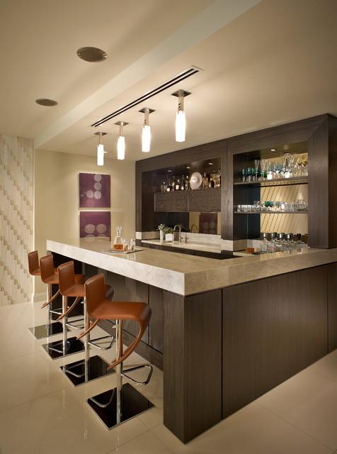 Contemporary Residence Boca Raton, Florida Contemporary Home Bar
