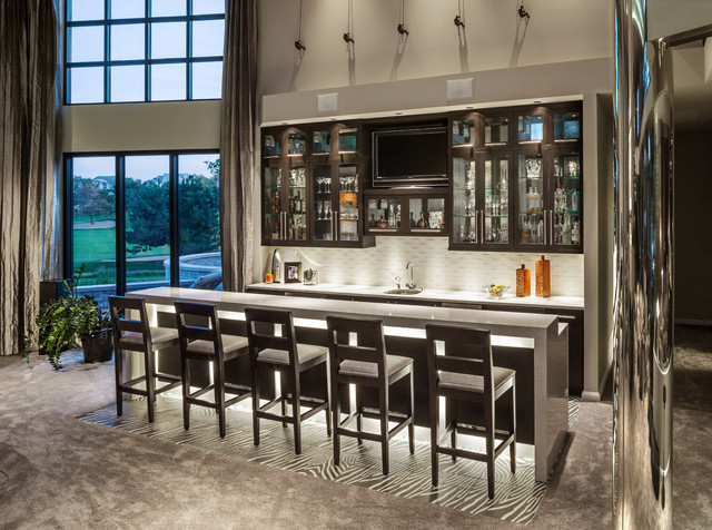 Contemporary Wet Bar Hartlandcontemporary Home Milwaukee