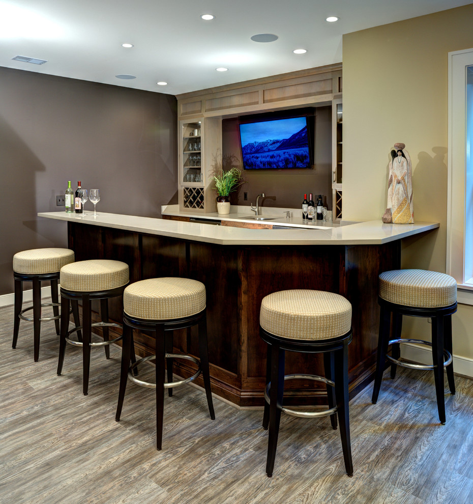 Example of an eclectic home bar design in DC Metro