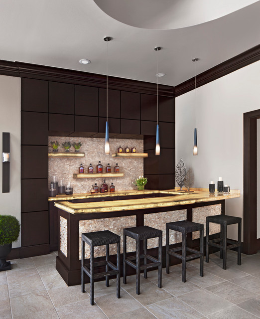 Home Bar Design Ideas Houzz: Cranbrook Custom Home