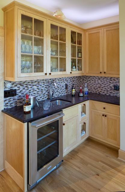 Cushing Residence Rustic Kitchen Portland Maine By Maple Street Design Studio