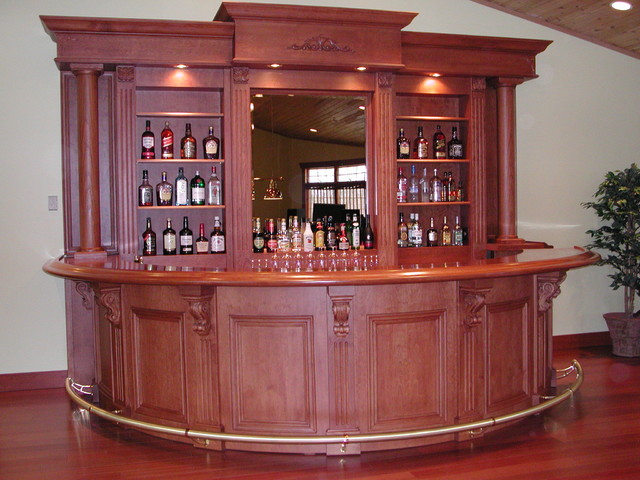 88 Home Bar Furniture Ottawa Example Of A Mountain Style Single Wall Dark Wood Floor Wet Bar