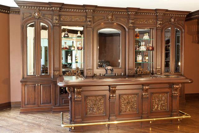 Residential bar nj traditional home bar new york by wl kitchen home - Residential bars ...