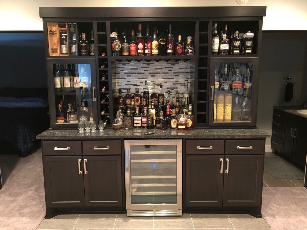 Custom Bourbon Bar - Traditional - Home Bar - Other - by KMA Storage  Solutions