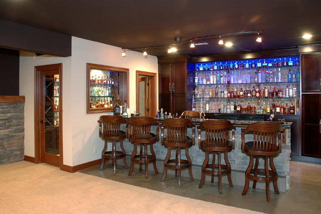 Nice Custom Built Home Traditional Home Bar