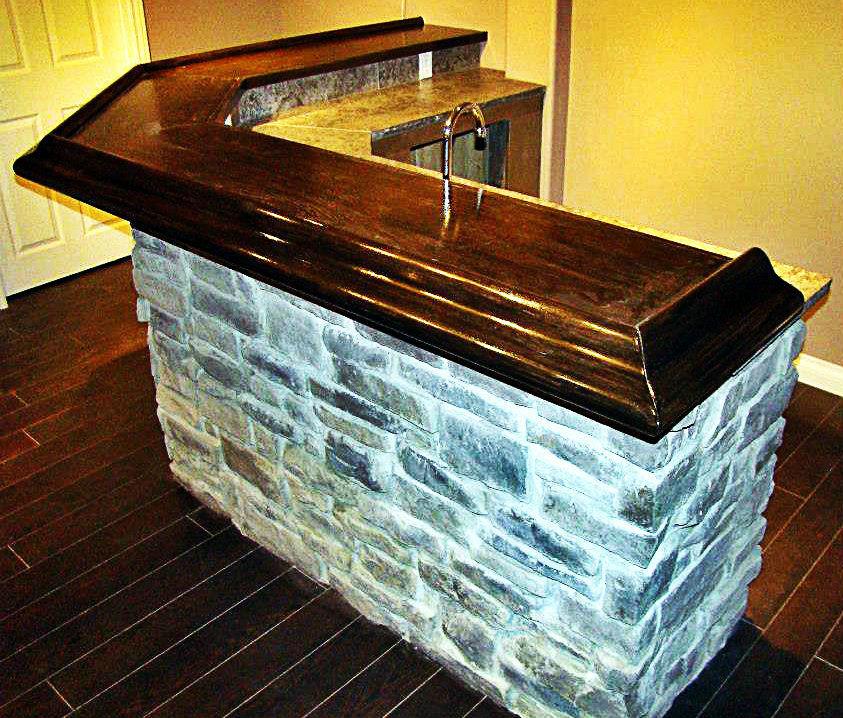 Custom built wet bar