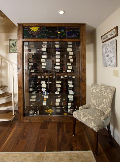 Home built in wine bar images for Custom wine bar