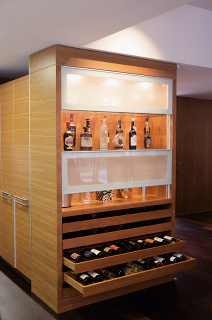 Custom Cabinetry Modern Home Bar San Diego By