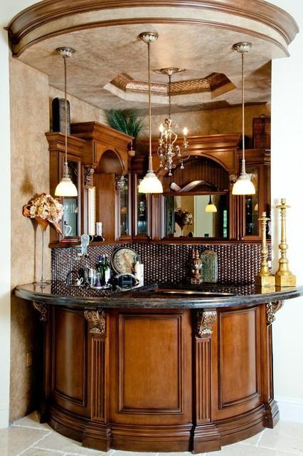 Custom Home Bar Traditional Home Bar