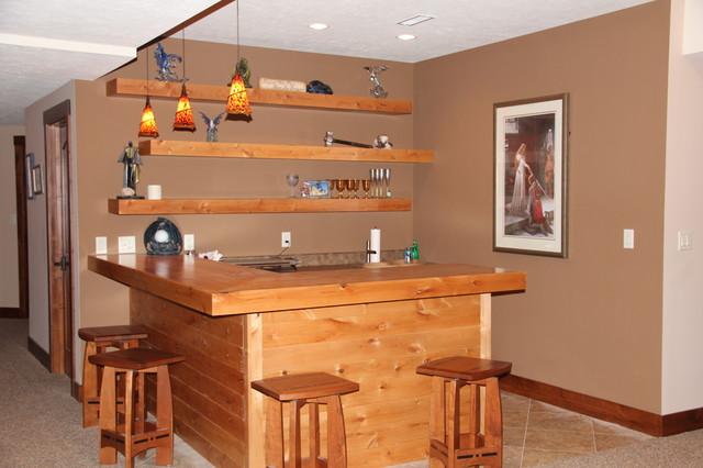 Custom Home rustic-home-bar