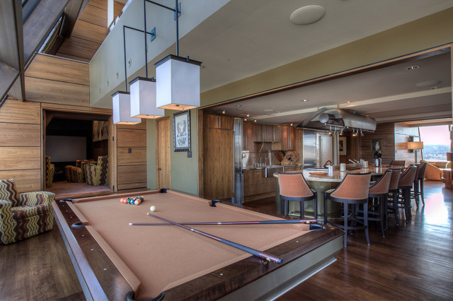 Custom Pool Table By Mitchell Pool Tables Contemporary Home Bar