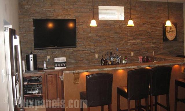 Customer Home Bar Designs transitional-home-bar