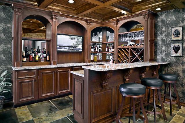 Dakota Kitchen And Bath Other Rooms Traditional Home Bar Other By Dakota Kitchen And Bath