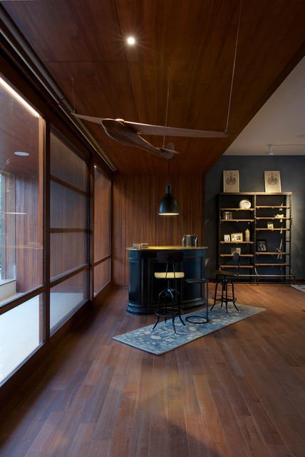 DIYA House american-traditional-home-bar