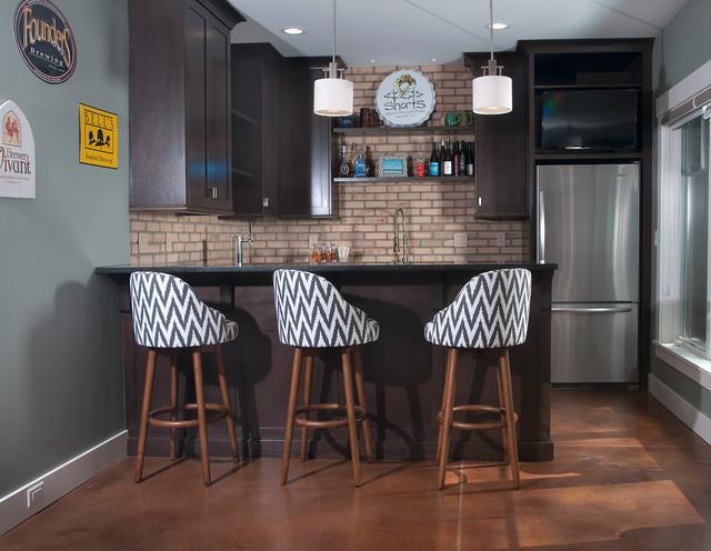eclectic fusion contemporain bar de salon grand. Black Bedroom Furniture Sets. Home Design Ideas