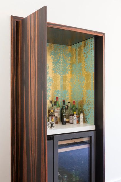 Contemporary Home Bar By Ann Lowengart Interiors