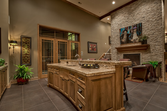 Elegant Sanctuary Home Omaha Ne Traditional Home Bar Omaha By Eurowood Cabinets Inc