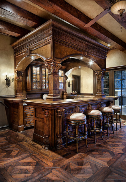 English manor traditional home bar houston by jauregui architect builder - English style house plans tradition and functionality ...