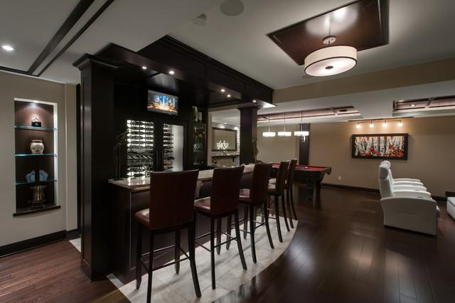 Entertainment tonight contemporary home bar ottawa for Entertainment bar for home