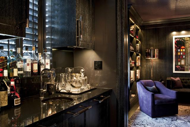 Interior Designers Decorators Trendy Home Bar Photo In New York
