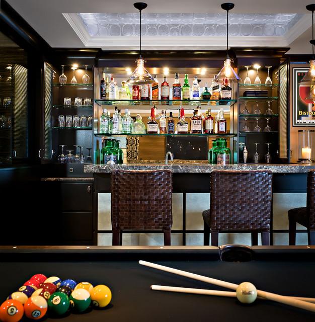 Evelyn Benatar New York Interior Design Contemporary Home Bar