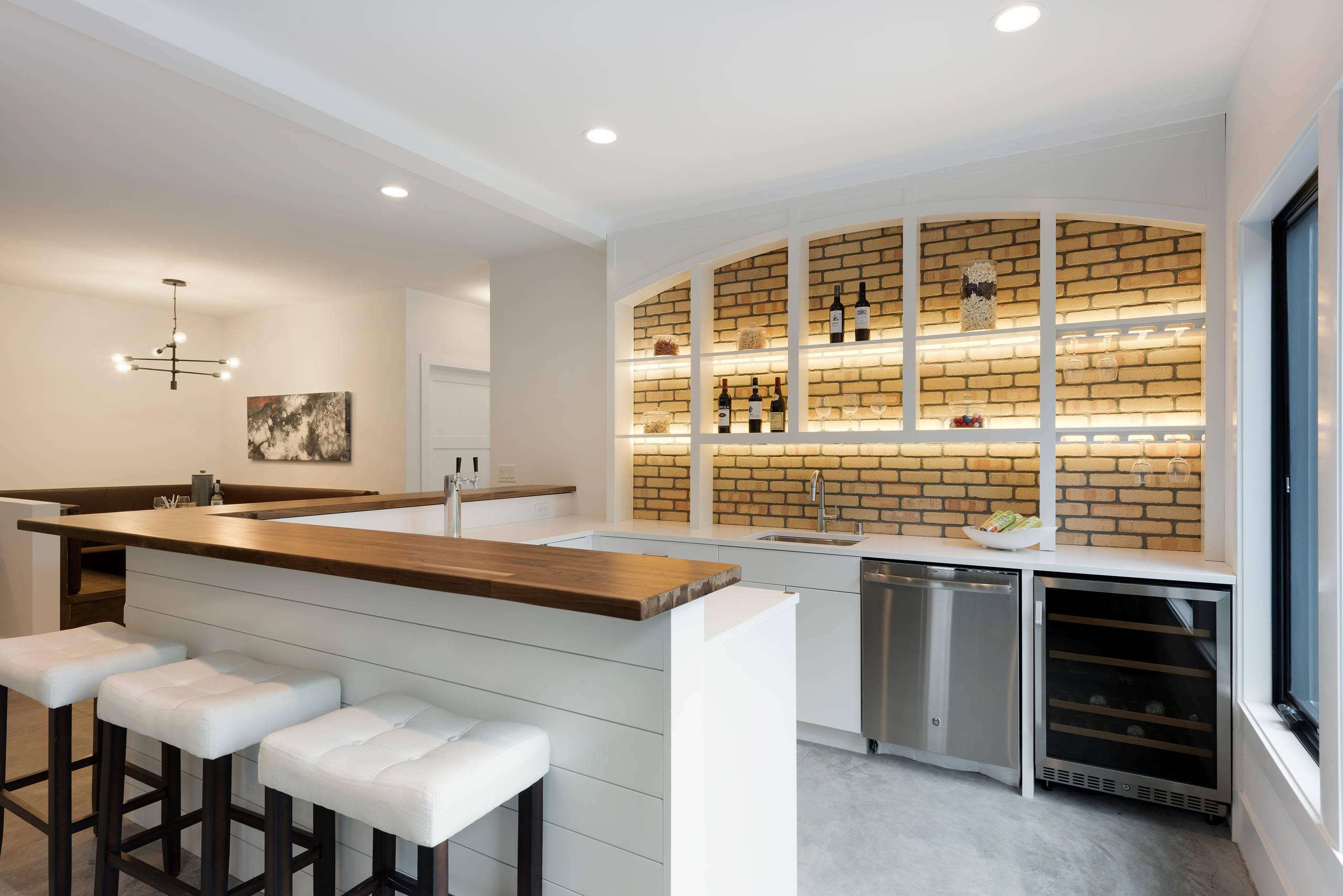 75 Beautiful Modern Concrete Floor Home Bar Pictures Ideas December 2020 Houzz