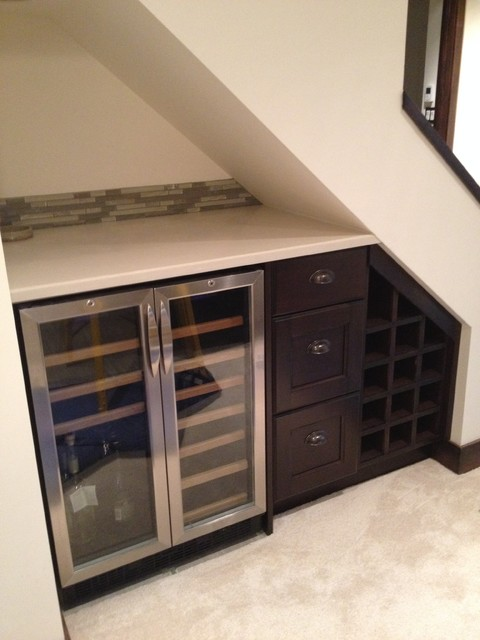 Family Room Cabinetry Traditional Home Bar Other