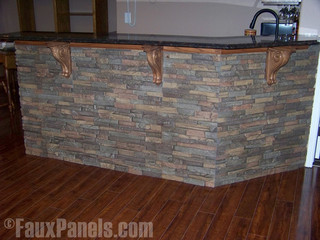 Faux Stone Wet Bar Designs Transitional Home Bar New