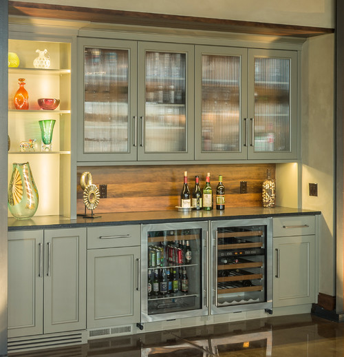 The contemporary kitchen 10 top trends for 2015 for Built in drinks cabinet