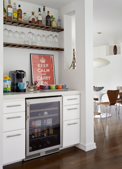 Set up coffee bar at home kitchen counter space savers for Coffee bar setup ideas