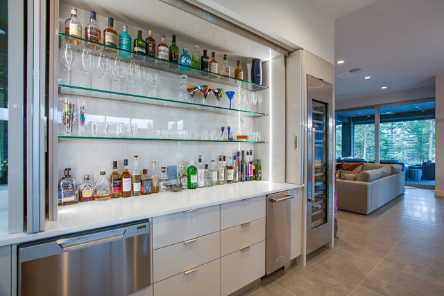 Gold Tommie Award Winner 2017 Private Residence Contemporary Home Bar Vancouver By