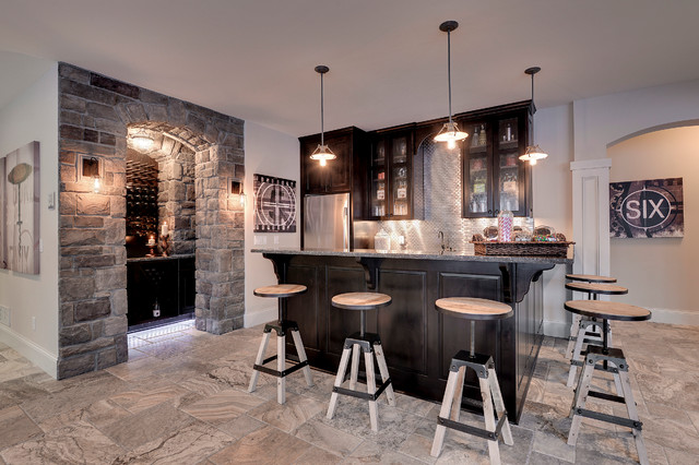 Gonyea Homes U0026 Remodeling Transitional Home Bar
