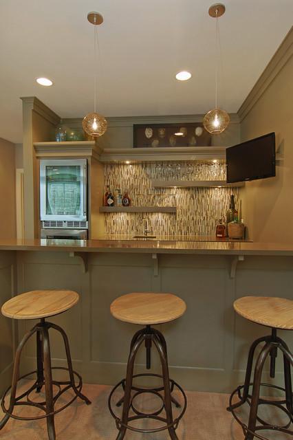 Great Neighborhood Homes transitional-home-bar