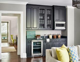 greener pastures traditional home bar charlotte by home design decor magazine. Black Bedroom Furniture Sets. Home Design Ideas