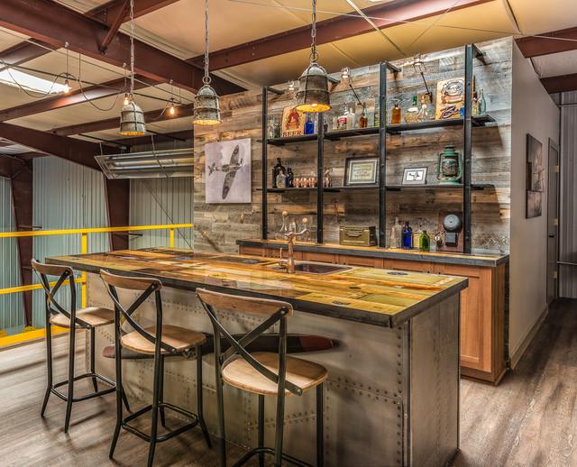 hangar bar  industrial  home bar  charlotte lauren nicole