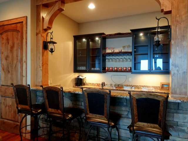 Wet Bars Dry Bars Rustic Home Bar Charlotte By High Country Cabinets Of Banner Elk