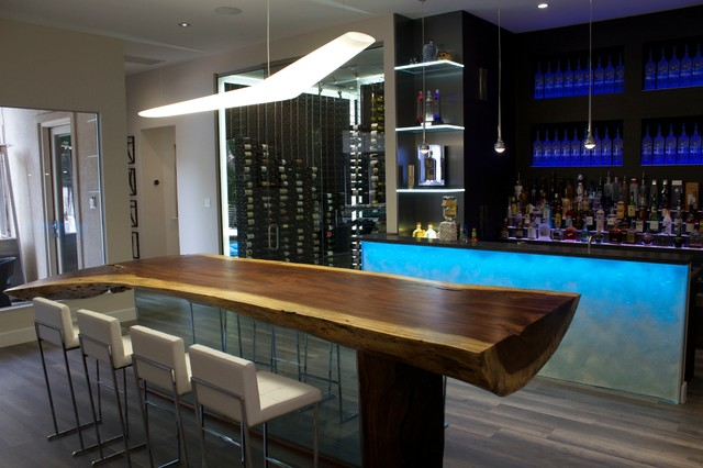 herson moderne bar de salon dallas par cantoni