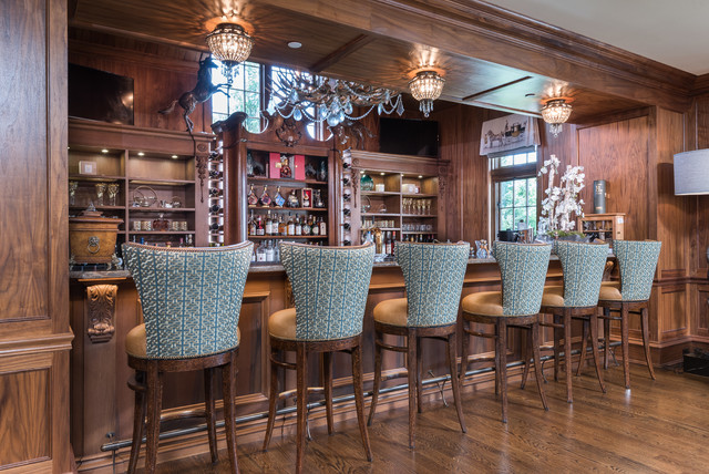 High-End Remodel - Traditional - Home Bar - Bridgeport - by Sweeney ...
