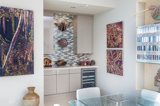 High-Rise Remodel contemporary-kitchen