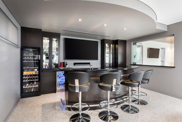 Hillarys Modern Home Bar Perth By Brian Burke Homes
