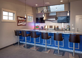 Hilltop Masterpiece Northwest Omaha Contemporary Home Bar Omaha By Eurowood Cabinets Inc