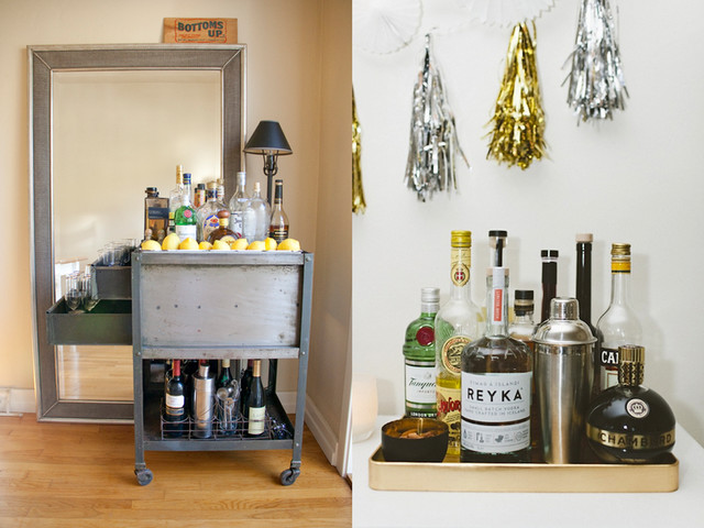 Home Bars for Small Spaces - Industrial - Home Bar - Houston - by ...