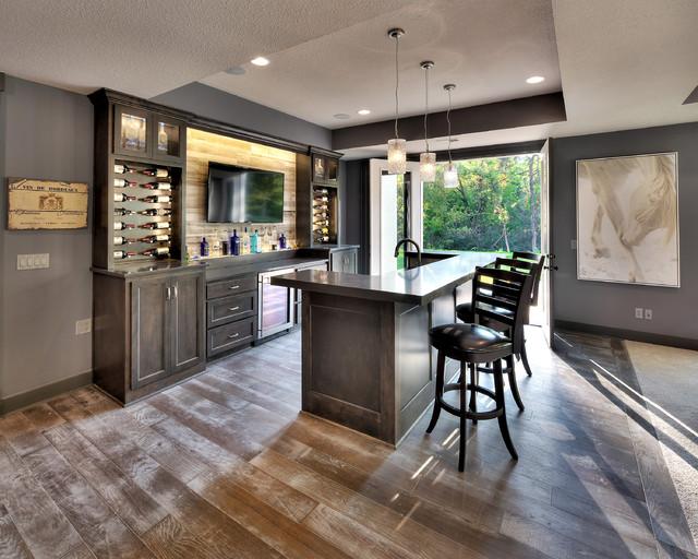 huntington contemporain bar de salon kansas city par starr homes. Black Bedroom Furniture Sets. Home Design Ideas