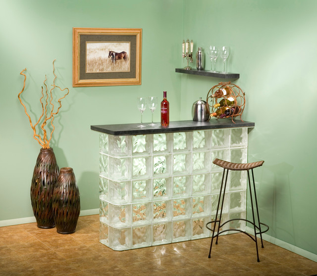 Ideas For Glass Blocks Modern Home Bar Chicago By Chicago Glass Block
