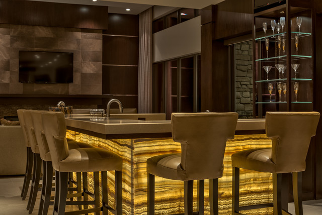 Illuminated Bar Wall Modern Masterpiece Omaha Ne Contemporary Home Bar Omaha By
