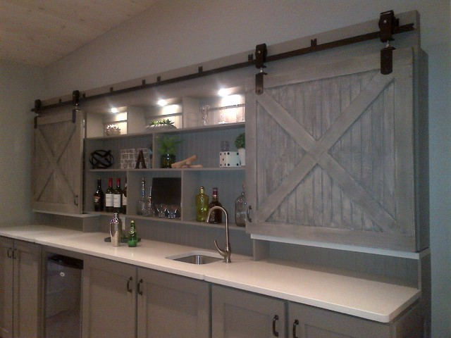 Interior Barn Doors Home Bar