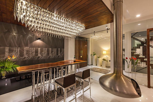 J Residence Contemporary Home Bar Delhi By Kumar Moorthy Associates