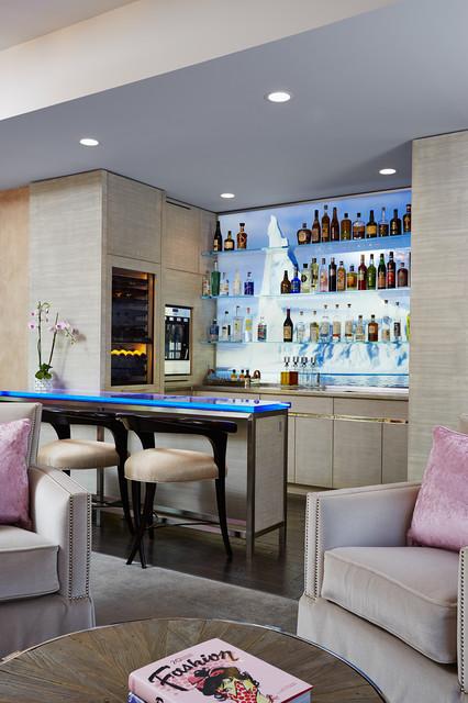 Kenwood MN Family Room Bar Transitional Home Bar