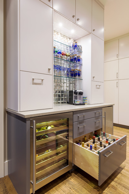Kitchen After New Bar Area Modern Home Austin By Twelve Stones Designs